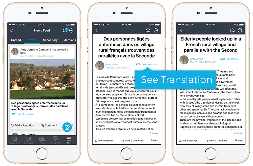 Mobile-Friendly Content Translation