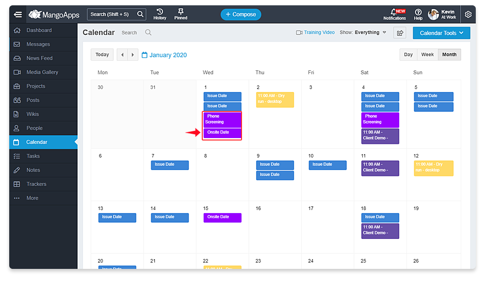 Integrate Trackers with Calendars