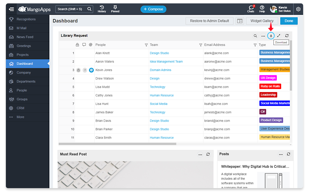 View Forms and Tables Directly On The Dashboard