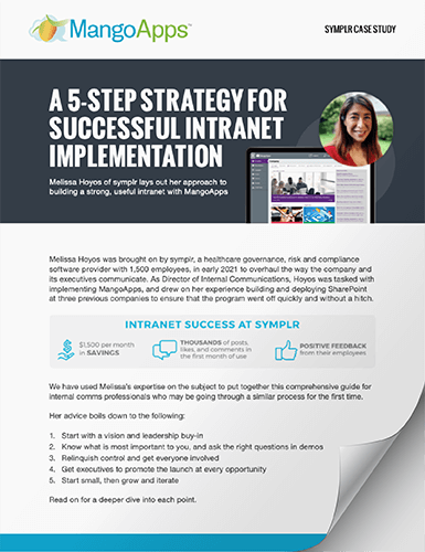 A 5-step strategy for successful intranet implementation