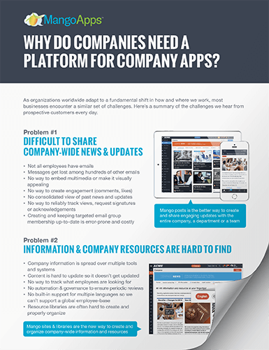 eBook: Why do companies need a platform for company apps