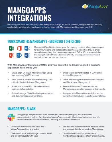 Work Smarter: MangoApps + Microsoft Office 365, GoogleApps & Slack