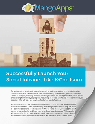 How to Successfully Launch Your Social Intranet