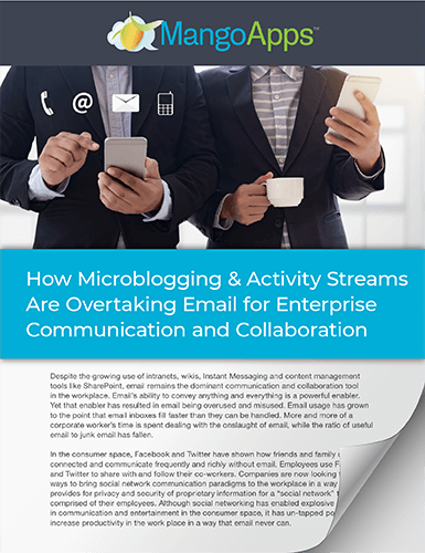 Whitepaper: Why Activity Stream is Replacing Email in the Workplace