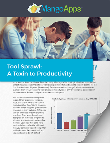 eBook: Tool Sprawl - A Toxin to Productivity