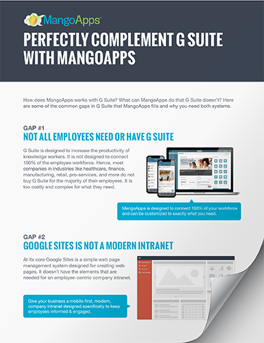 How MangoApps perfectly complements G Suite